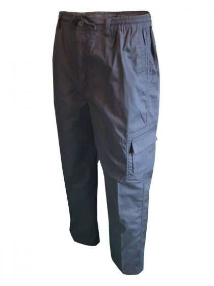Mens Camouflage Print Cargo Combat Pocket Elasticated Waist Cotton Shorts Size