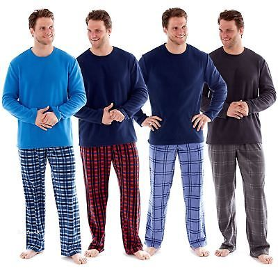 Mens Harvey James Checked or Stag Lounge Pants Pyjama Bottoms Soft Warm Fleece