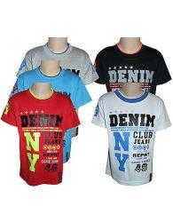 Boys Kids T-Shirts Casual Wear Crew Neck Printed Short Sleeve GREY Tops Yr 4-14