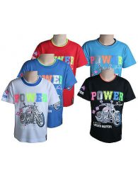 Boys Kids T-Shirts Casual Wear Sports Crew Neck Short Sleeve Soft Red Top Yr2-14