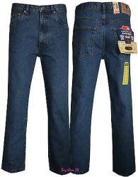 New Men's Basic Heavy Duty Cotton Regular Classic Fit Straight Leg Denim Jeans