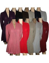 Ladies Women's Knitted Waterfall Cardigans Tops Sweaters Full Sleeves Plus Sizes Duplicate