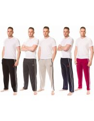 Mens 100%Cotton Jersey Pyjama Bottom Plain Lightweight Branded Lounge Pant M-3XL