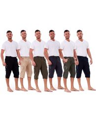 Men's New Feel ¾ Long Cargo Combat Sports Shorts Poly Cotton Beach Surf Shorts