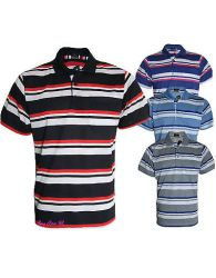 Men's Striped T-Shirts Loose Fit Pique Polo Polycotton 1902 Tops Casual M to 5XL