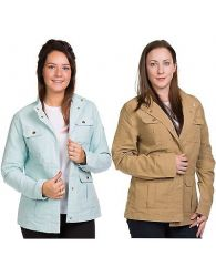 Ladies Casual Coat Rich Cotton Lightweight Classic Outwear Line Jackets XS to XL