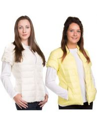 Ladies Padded gilet Down and Feather Jacket Lining Cap Sleeve Casual Outdoor