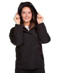New Ladies casual Jacket Plain Lining Lightweight Hooded Rain Coat 8-16