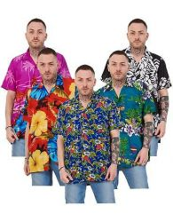 Mens Hawaiian Shirt Multi Colors Print Regular Big Size Summer Fancy Dress M-5XL
