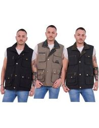 Mens Padded Lined Quilted Sleeveless Bodywarmers Gilets Jackets Size M to 3XL