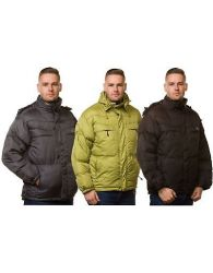 New Mens Padded Jacket Puffer Lining Plain Quilted Hooded Casual Winter Coat